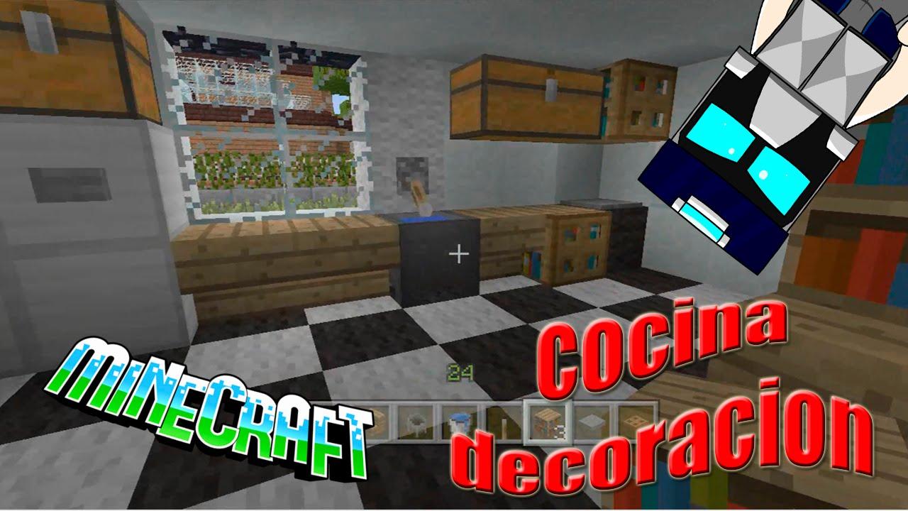 Como hacer una cocina en Minecraft, sencilla y compleja Tuto ...