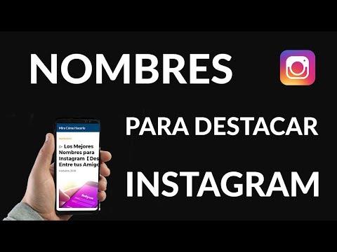 ▷ Los Mejores Nombres para Instagram【Destaca Entre tus Amigos】√