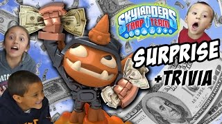 Skylanders Trap Team MONEY GRAB! Small Fry Surprise + Trivia + Gameplay + Unboxing FUN!