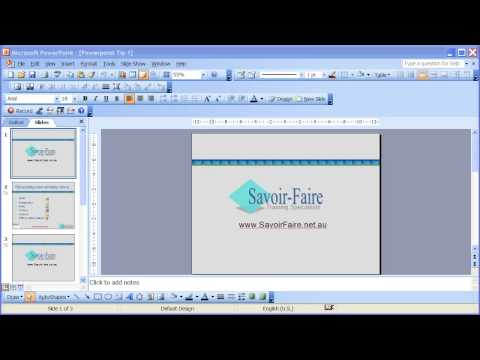 How to Save a Powerpoint Presentation as an Automatic Slideshow - Powerpoint 2003