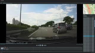 아이나비 QXD7000 주간 전방카메라 영상