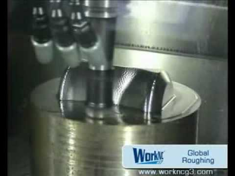 CNC global roughing machining