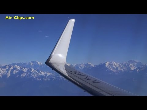 Boeing 737 Himalaya Takeoff with AMAZING Everest views! [AirClips]