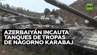 Azerbaiyán incauta vehículos blindados del Ejército de Nagorno Karabaj