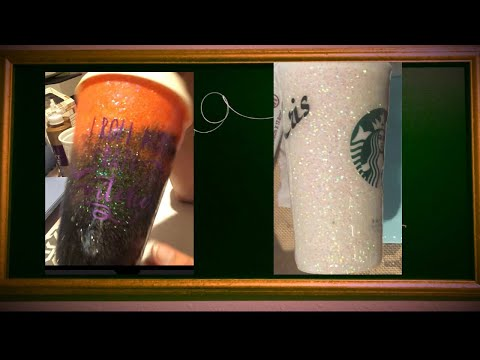 Tumbler tutorial; glitter cup, epoxy resin on a plastic tumbler