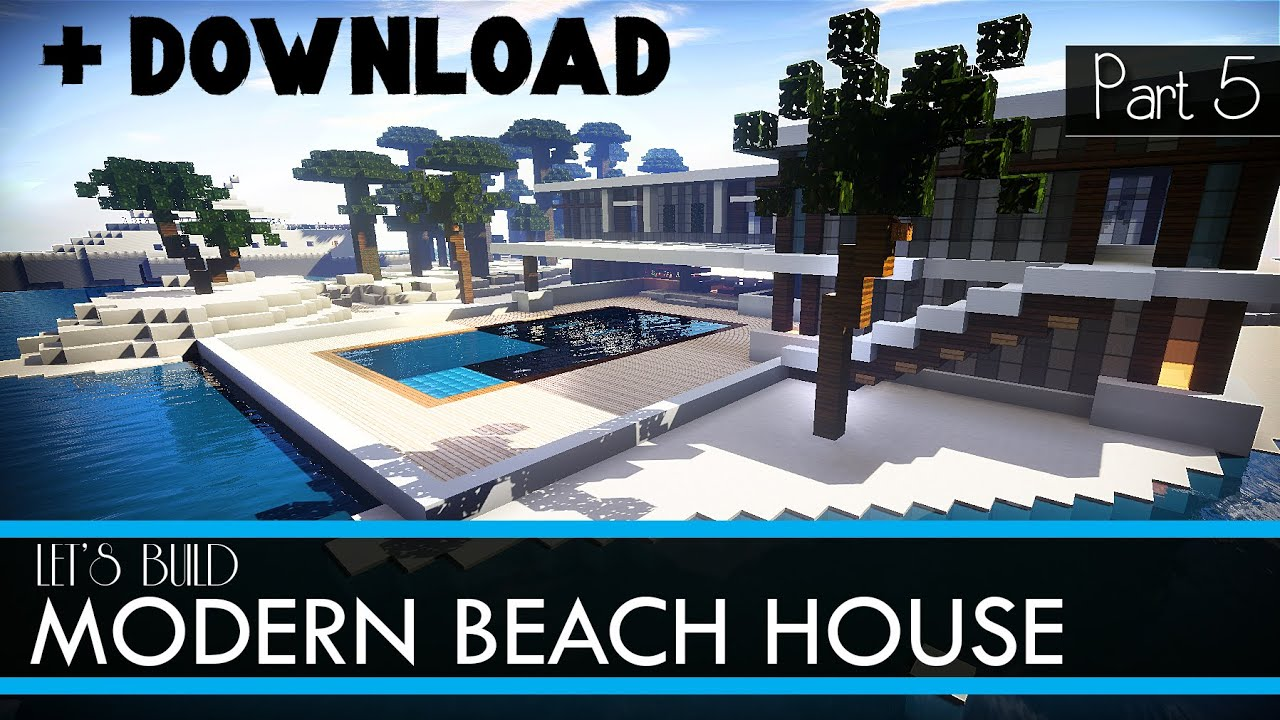 How To Build A Beach House On Minecraft