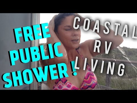 FREE PUBLIC SHOWER? RV LIFE WHEN COASTAL LIVING THIS IS WHAT HAPPENS...