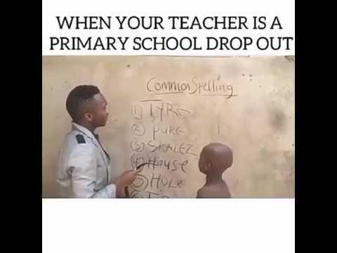 Funny African Teacher