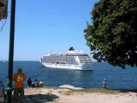 M S The World Floating Apartment House Cruise Ship Ancd At Rovinj Croatia