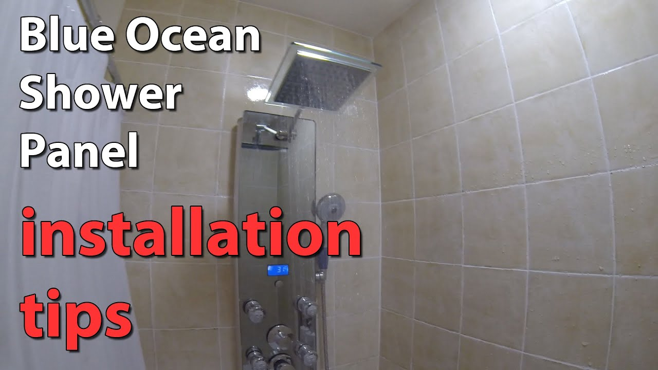 "Blue Ocean 52"" Shower Panel Tower installation tips - YouTube"