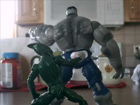 the savage grey hulk v.s. the green goblin - youtube