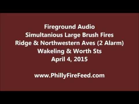 4-4-15, 2 Alarm Brush Fire, Ridge & Northwestern Aves, Philadelphia, PA