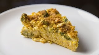 Запеканка из макарон с брокколи, сыром и яйцом | АСМР |  Рецепт
