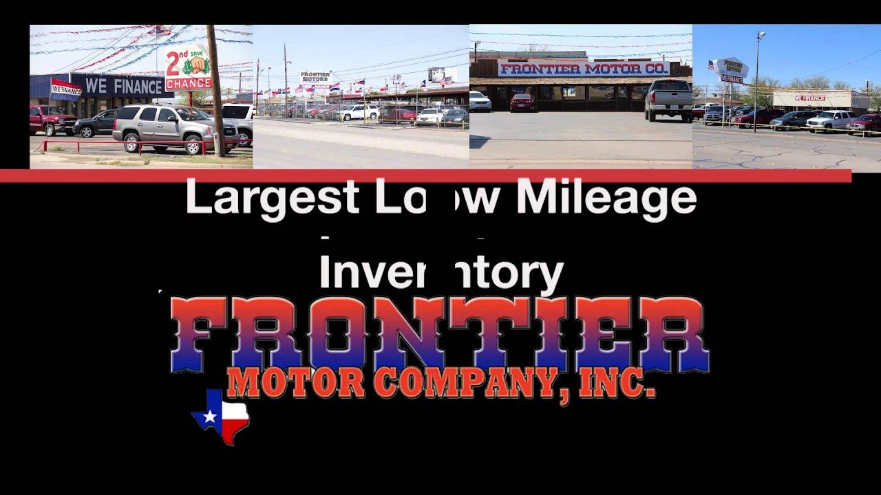 Frontier Motors Abilene Tx >> Low Miles Frontier Motors In Abilene Tx