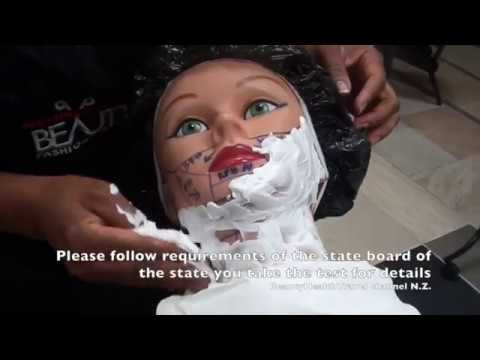 Barbering-shaving: How to Shave for State Board Test: Demo