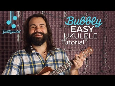 Bubbly by Colbie Caillat - Easy Ukulele Tutorial - Practice Barre Chords (Jellynote Lesson)