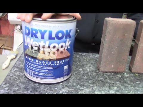 How to best seal masonary, paver stones using Drylok Wet Look Sealer