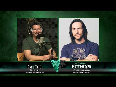 Dragon Talk: Matthew Mercer, 7/31/17