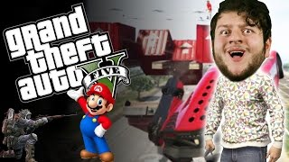 GTA 5 PC Online Funny Moments - MARIO VS PISTOLS! | ..BROTHER...NOOO! (Custom Games)