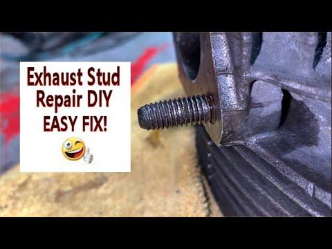 VW Beetle Cylinder Head Exhaust Stud Repair! DIY!