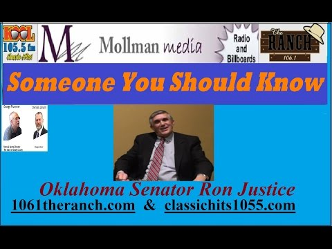 Someone You Should Know, Oklahoma Senator  Ron Justice