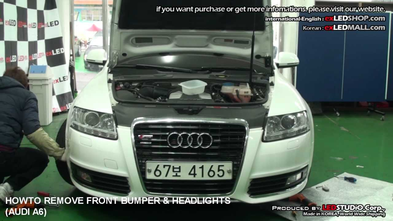 maxresdefault howto remove front bumper & headlights (audi a6) 아우디 a6범퍼 Sealed Beam Headlight Wiring Diagram at bakdesigns.co