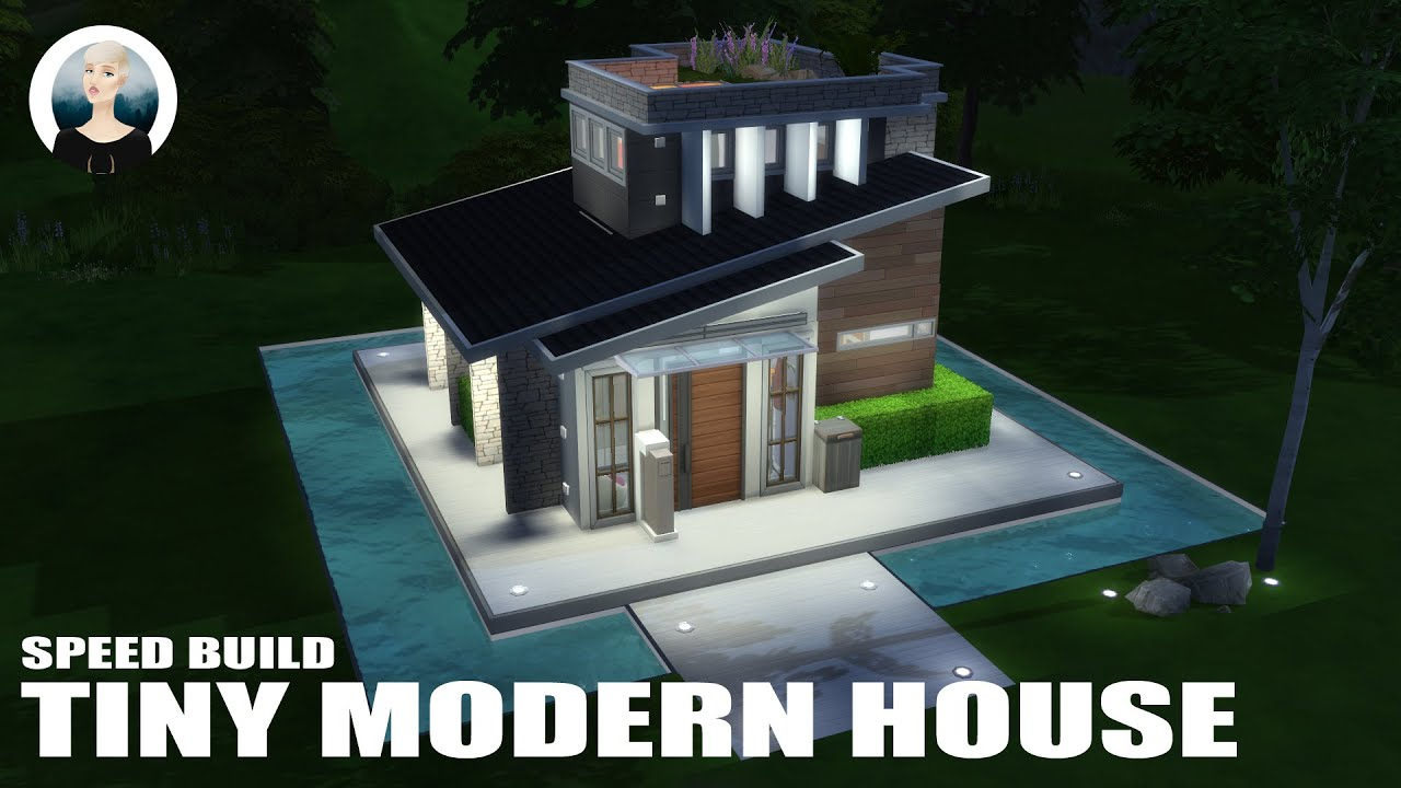 The sims 4 speed build tiny modern house youtube for Build a modern home for 200k