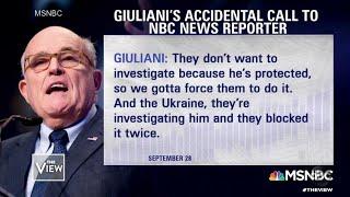 "Giuliani ""Butt Dials"" Reporter | The View"
