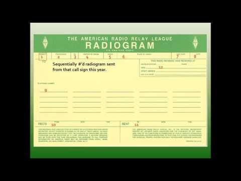 ARRL standard Radiogram