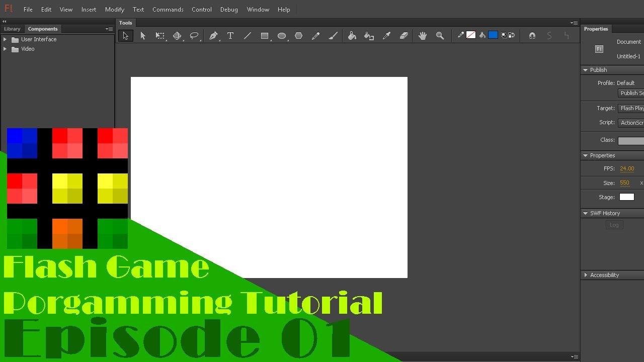 Flash game programming tutorial episode 10: fixing block.