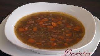 Lentejas Con Zanahoria / Lentils With Carrots* Video 132 *