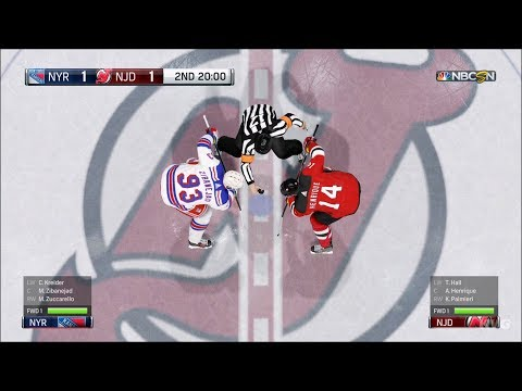 NHL 18 - New Jersey Devils vs New York Rangers - Gameplay (HD) [1080p60FPS]