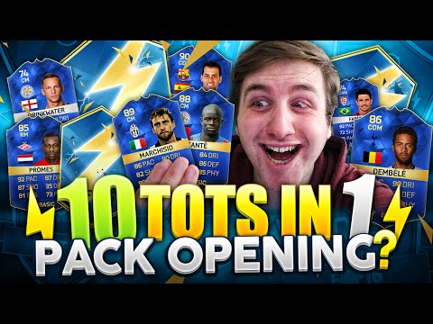 10 TOTS IN 1 PACK OPENING?