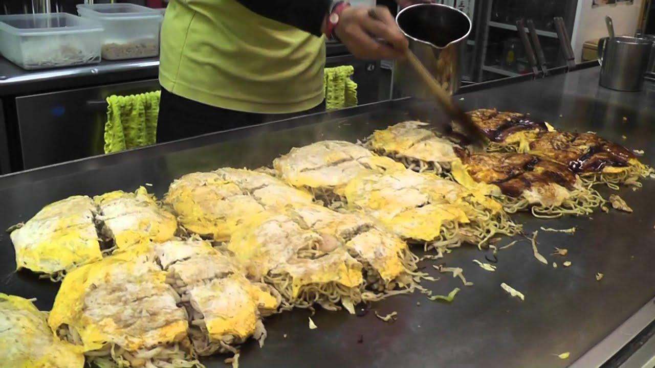 Okonomiyaki Hiroshima Style (2/2) - YouTube