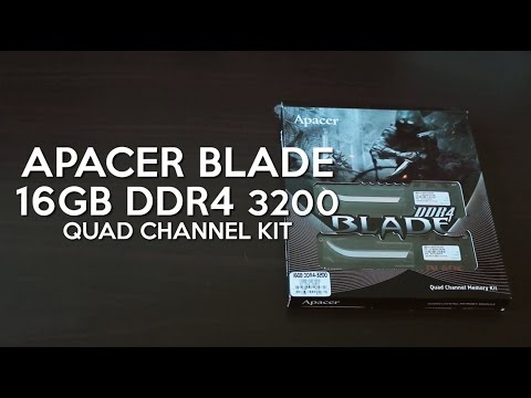 Apacer Blade DDR4 3200 Memory Modules Unboxing / Review