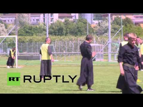 Switzerland: Priest on priest football becomes Sunday religion