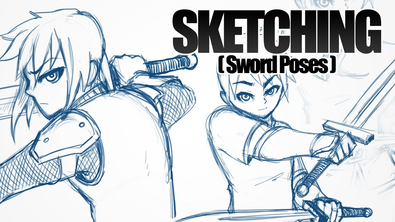 It's just a photo of Sizzling Sword Poses Drawing