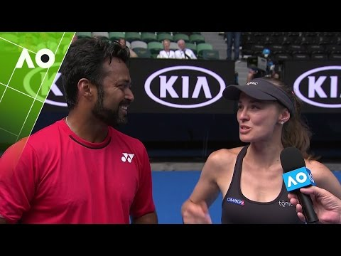 Martina Hingis/Leander Paes on court interview (2R) | Australian Open 2017
