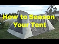 Seasoning A Kodiak Canvas Tent with Water