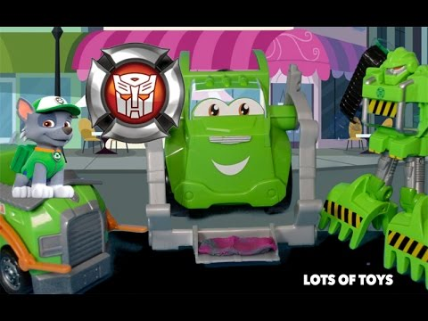 Play Doh Trash Tossing Garbage Truck And Transformers
