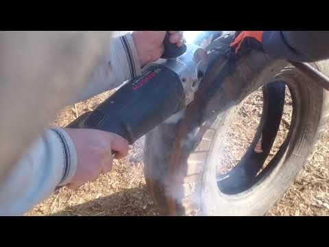 spiral  kesici taş motoru ile araç...