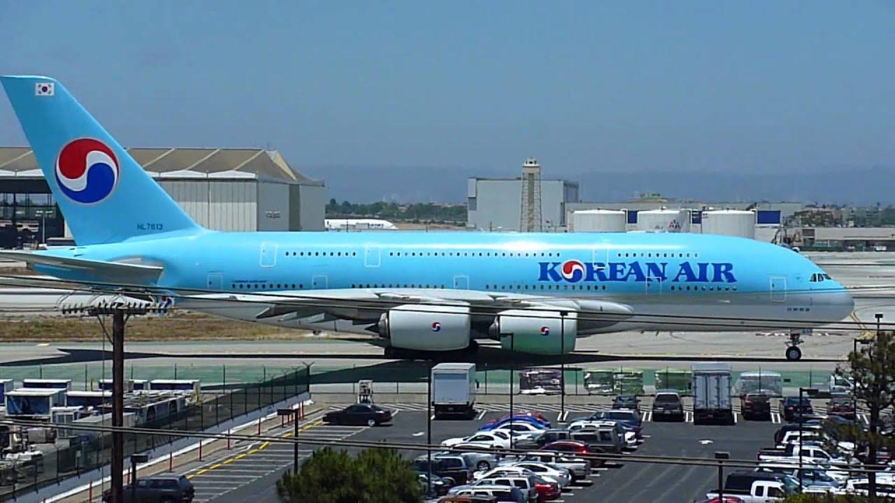 Fsx Wallpaper Hd Korean Air Airbus A380 861 Departing Lax Youtube