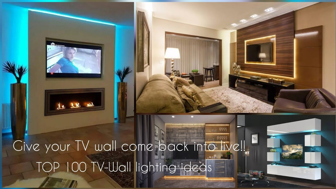 Top 100 Tv Wall Lighting Ideas 2021 Modern Tv Wall Unit Lights Youtube