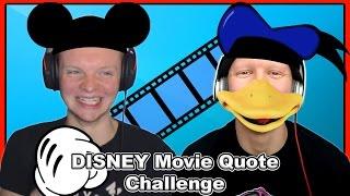 Disney Movie Quote Challenge - With A Cinderella Forfeit