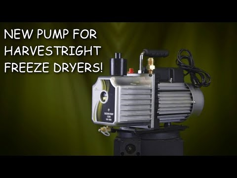 First Look: NEW PUMP shipping with all Harvest Right Home Freeze Driers.