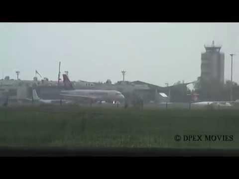Rainy Arrivals & Departures to Belgrade Nikola Tesla