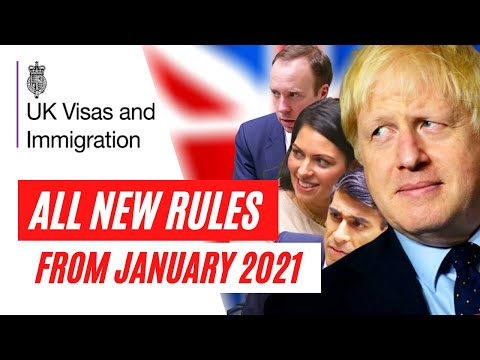 UK VISA UPDATES 2021 - NEW SIMPLIFIED UK VISA ROUTES ANNOUNCED FROM 1 JANUARY 2021