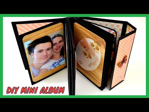 DIY Crafts - How to Make a Mini Album for Camera Box - Paper Album Card - Scrapbooking Gift Ideas