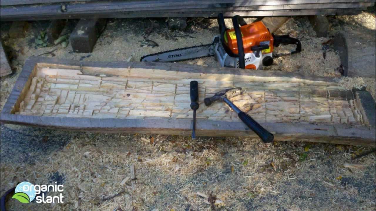 D I Y Garden Log Trough Planter Organic Slant Youtube