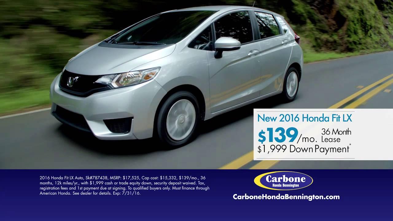 Carbone Honda Bennington July 2016